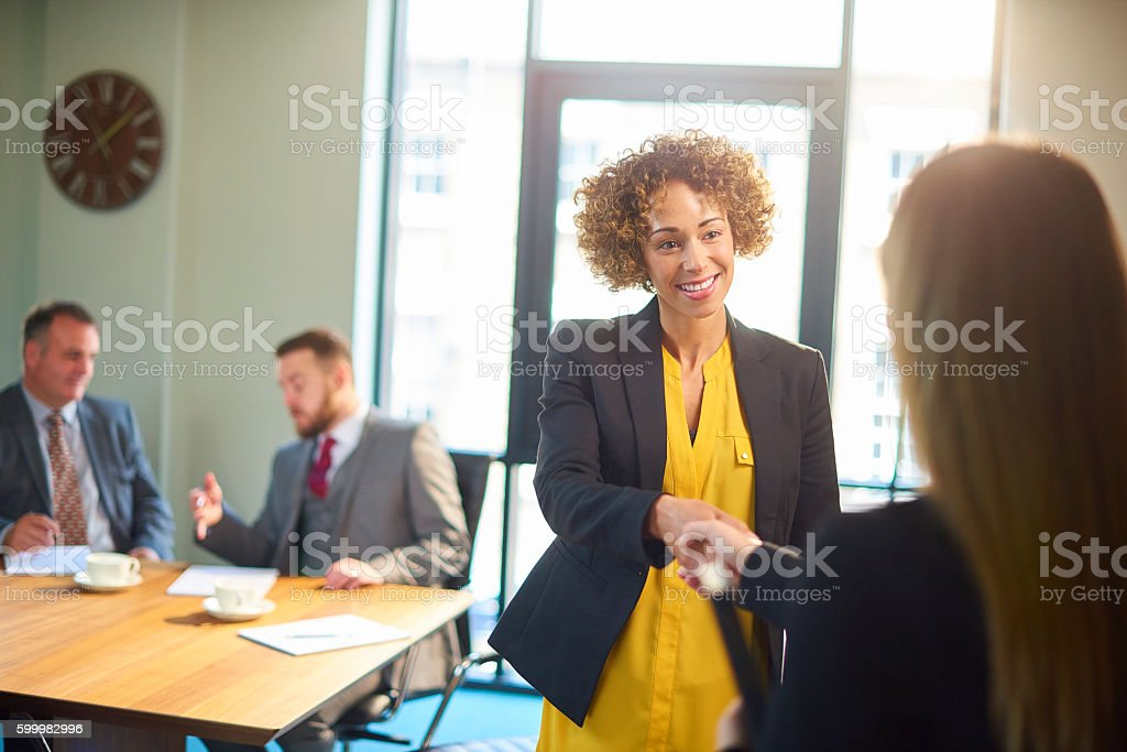 interview panel stock photo