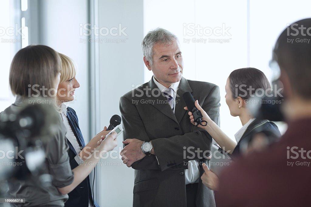 Interview. stock photo