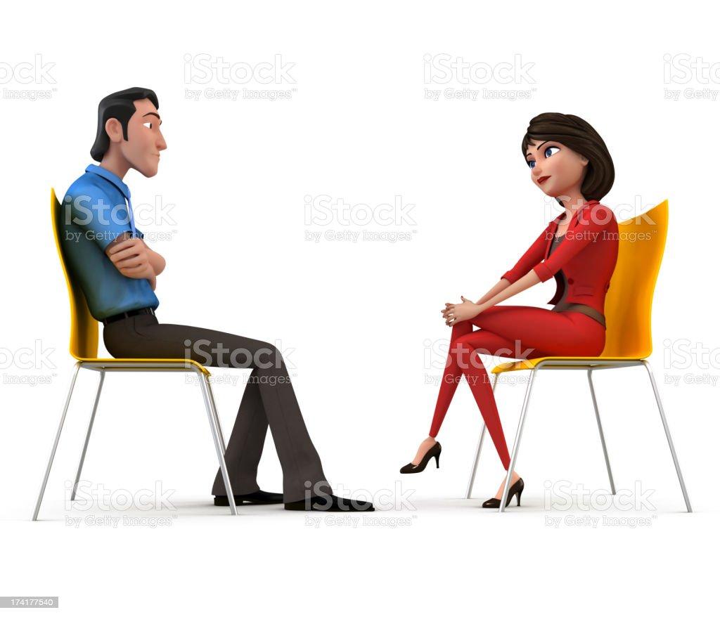 Interview stock photo