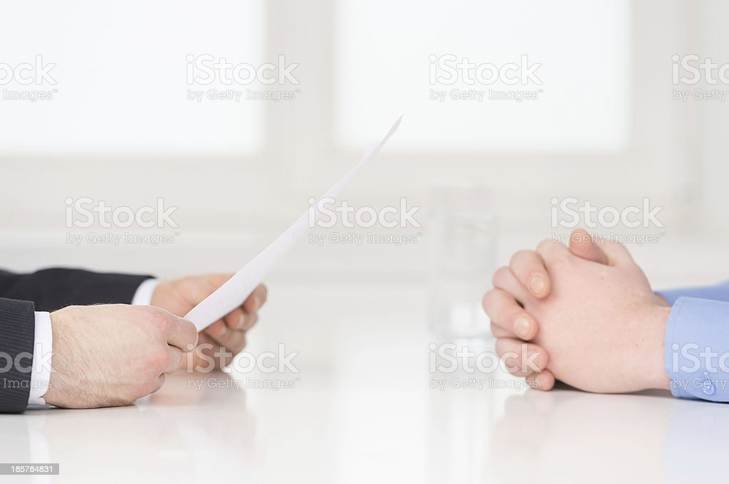 Interview. stock photo