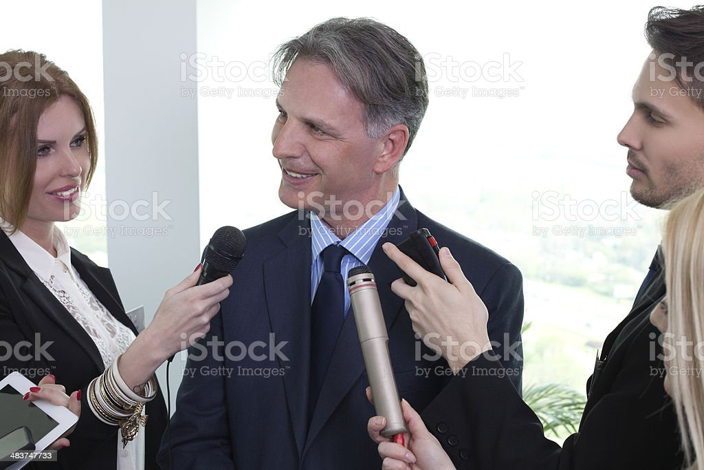 Interview. royalty-free stock photo