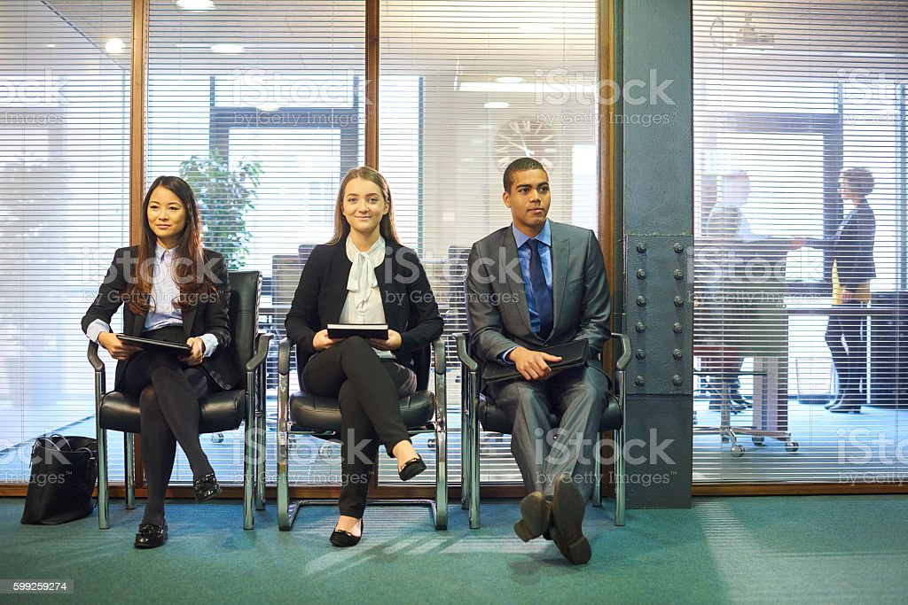 interview waiting room stock photo