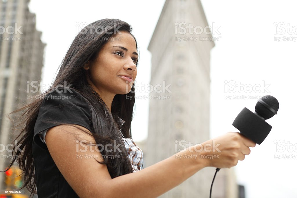Interviewer royalty-free stock photo