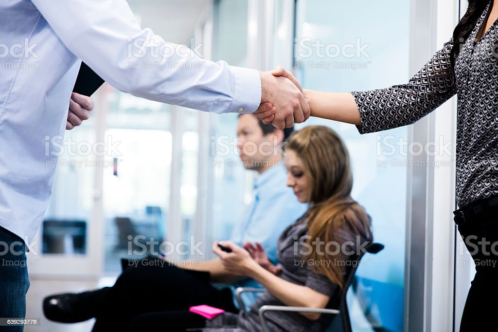 Interviewing for a Job stock photo