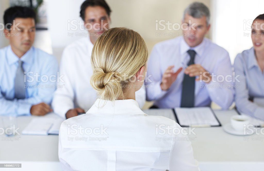 Interviews are always intensive stock photo
