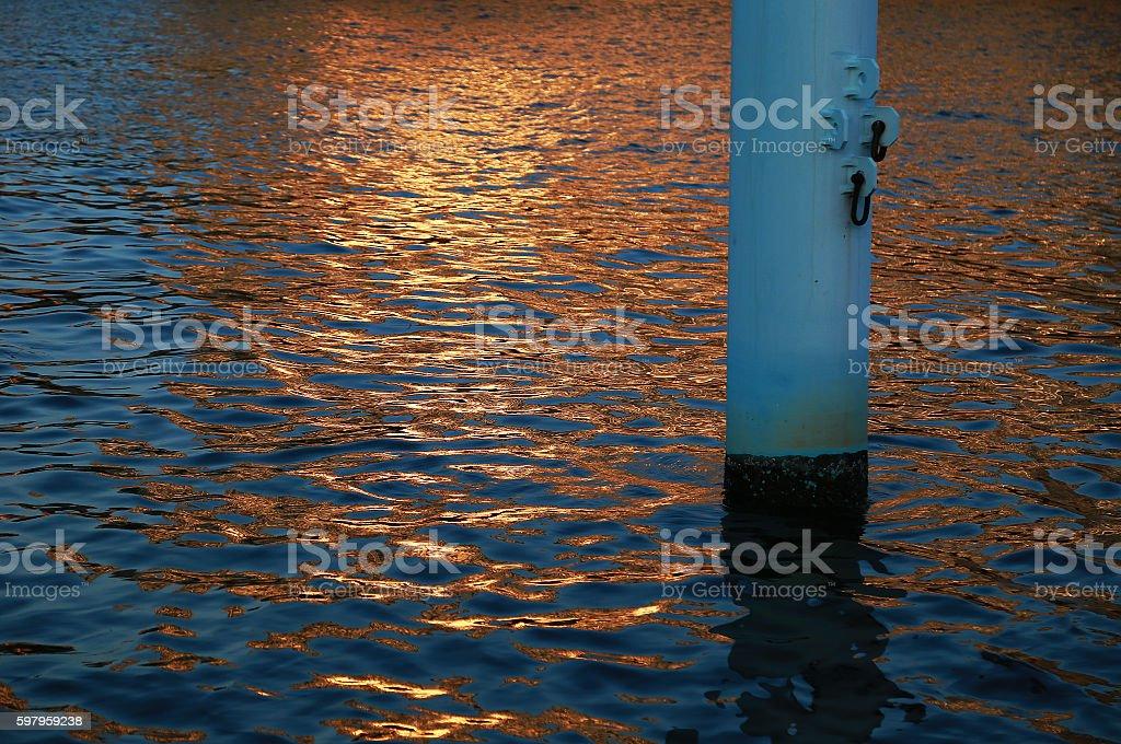 Interwave setting sun foto de stock libre de derechos