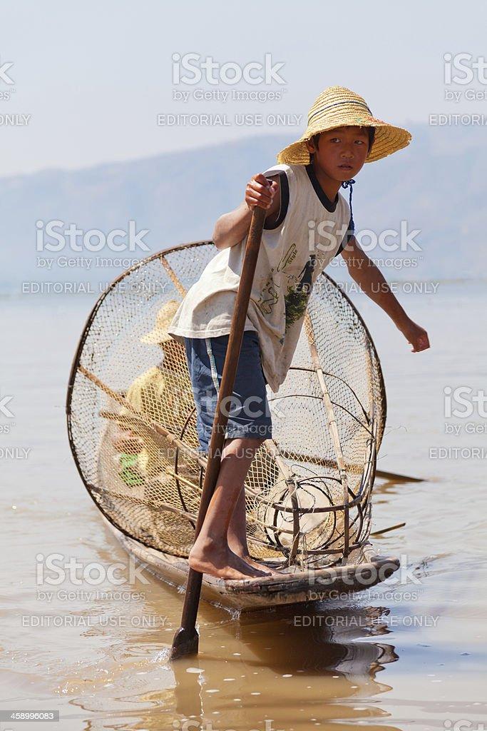 Intha Fisherman, Inle Lake, Myanmar royalty-free stock photo