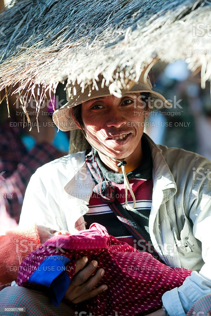 Intha people in Shan State, Myanmar stock photo