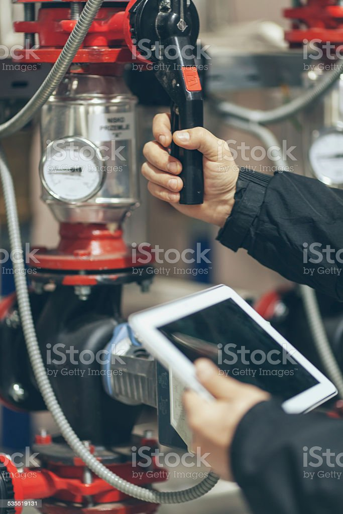 inthe boiler room stock photo