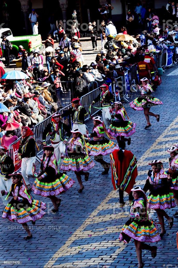 Inti Raymi Celebration Peru South America 2015 stock photo