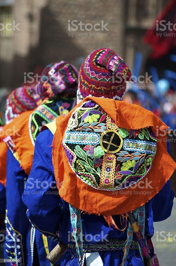 Inti Raymi Festival Male Dancers stock photo