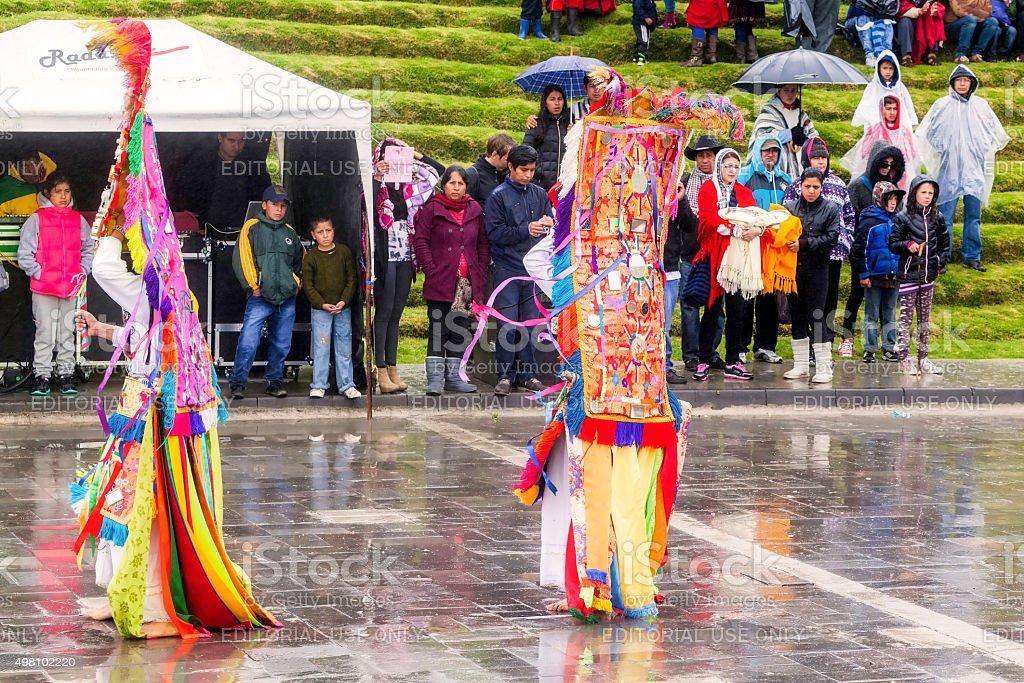 Inti Raymi Festival, The Time Of Reunion stock photo