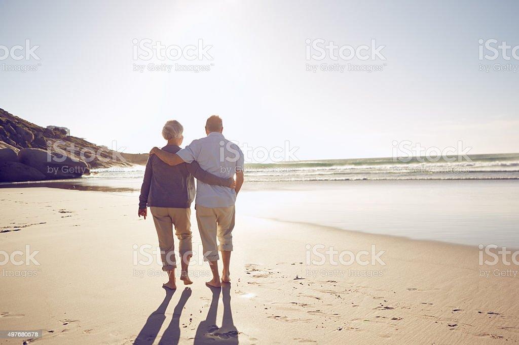 Intimacy on the beach stock photo