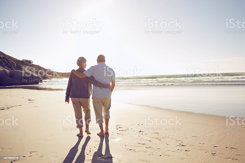 Intimacy on the beach stock photo