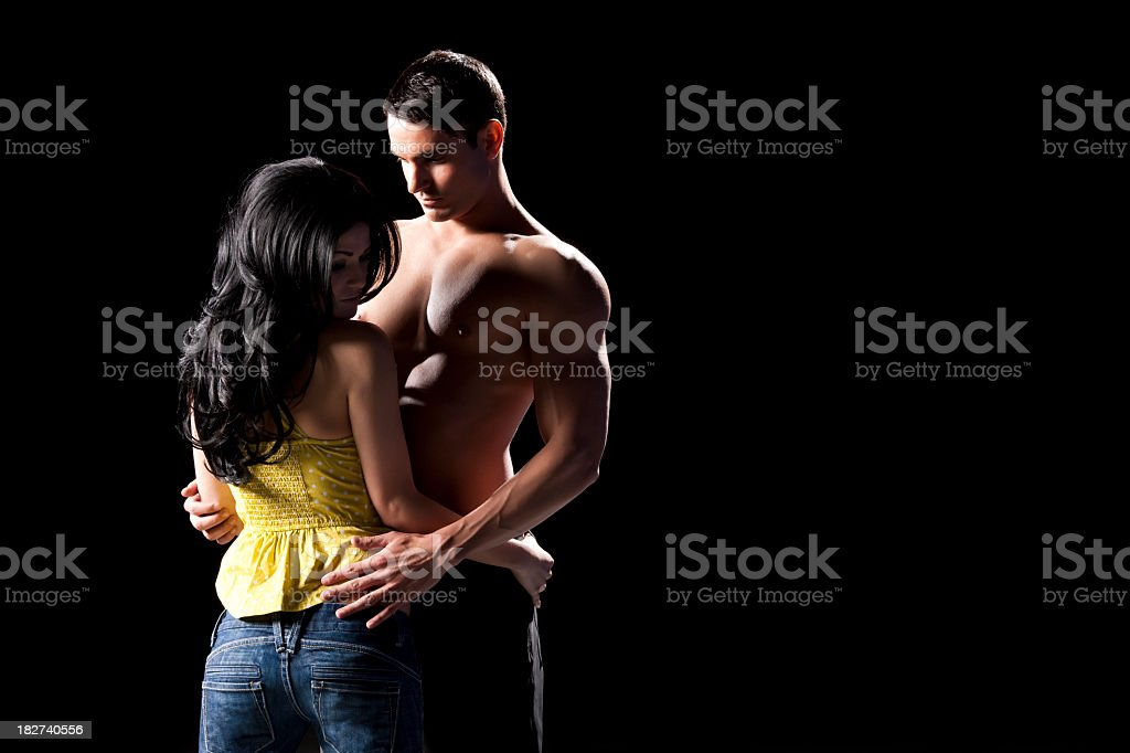 Intimate Couple Resisting Tempation royalty-free stock photo