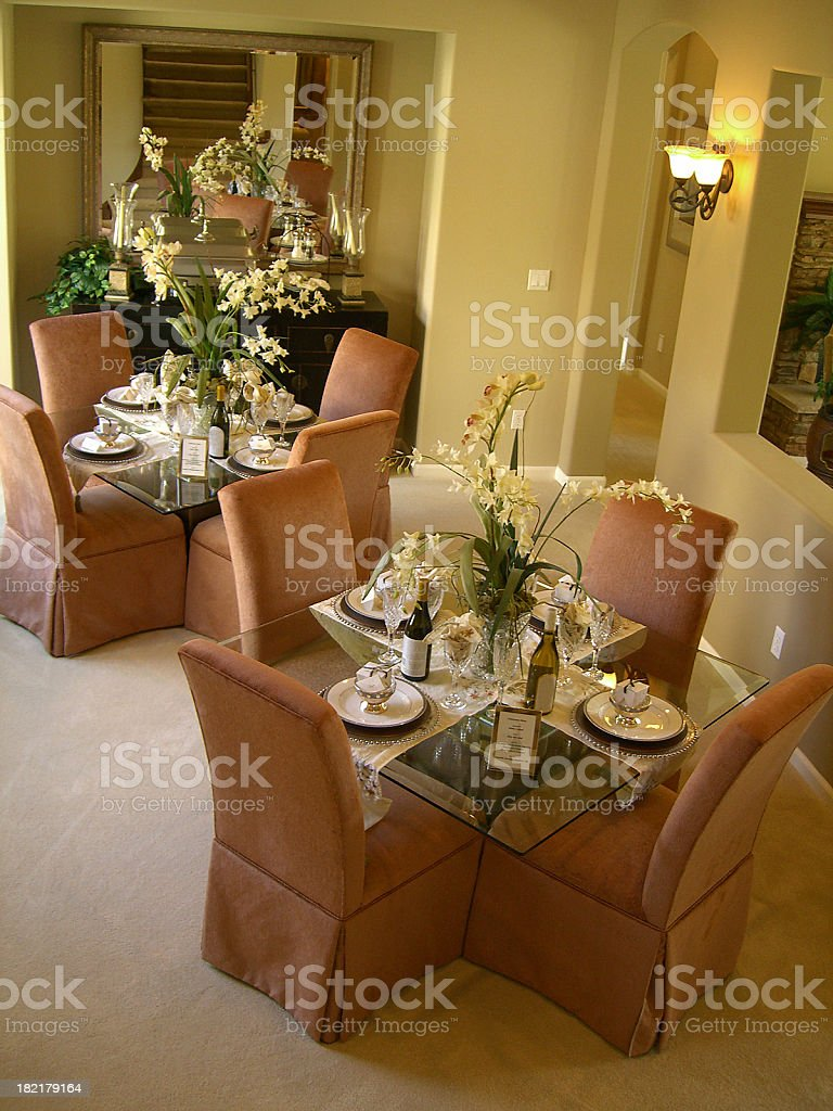 Intimate Dining Room royalty-free stock photo