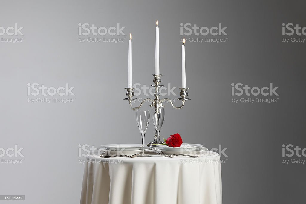 Intimate Dinner Setting stock photo