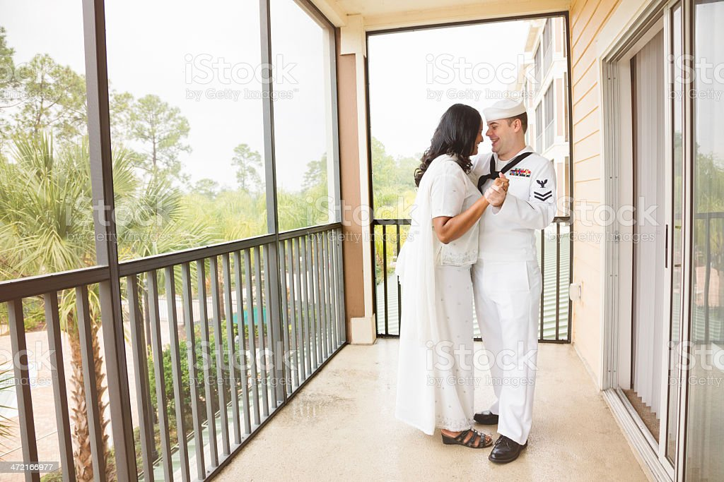 Intimate moment before reunion party royalty-free stock photo