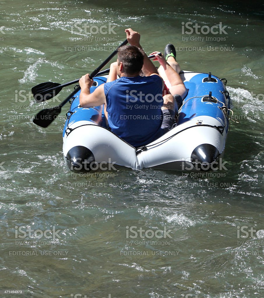 Intimate River Rafting For Two royalty-free stock photo