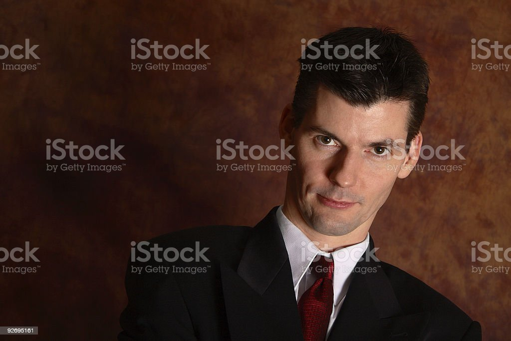 Intimidating Boss stock photo