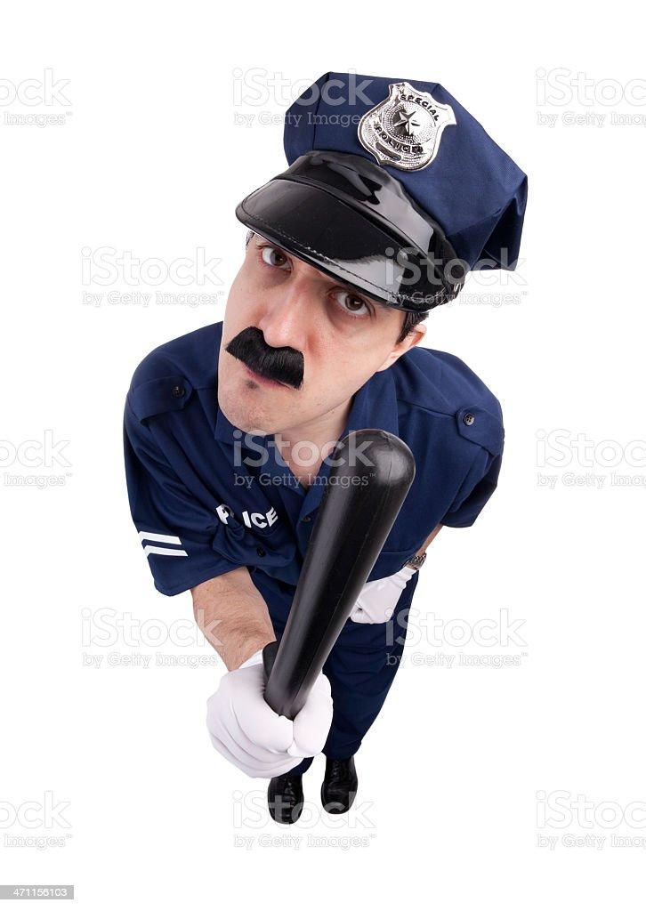 Intimidating Cop royalty-free stock photo