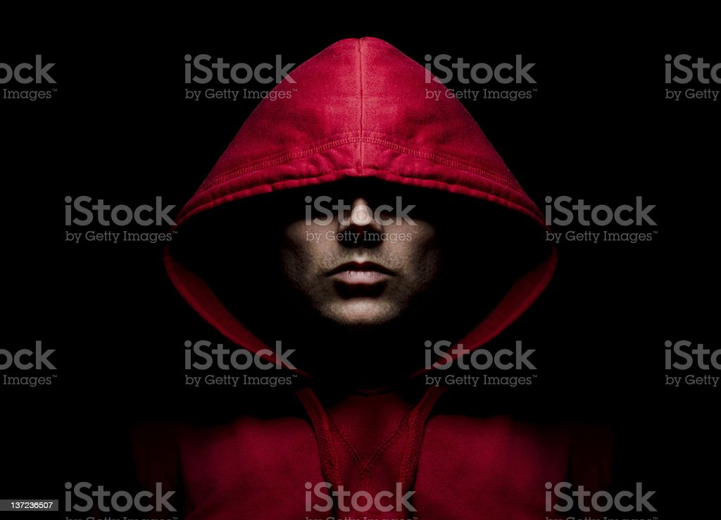 Intimidating Hooded Male royalty-free stock photo