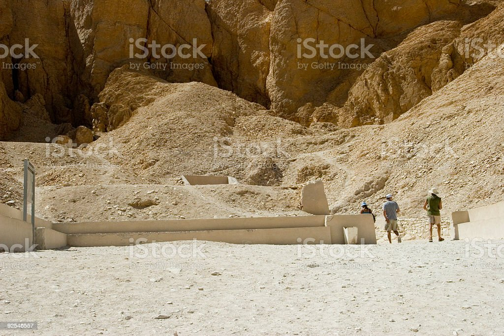 Into a Tomb royalty-free stock photo