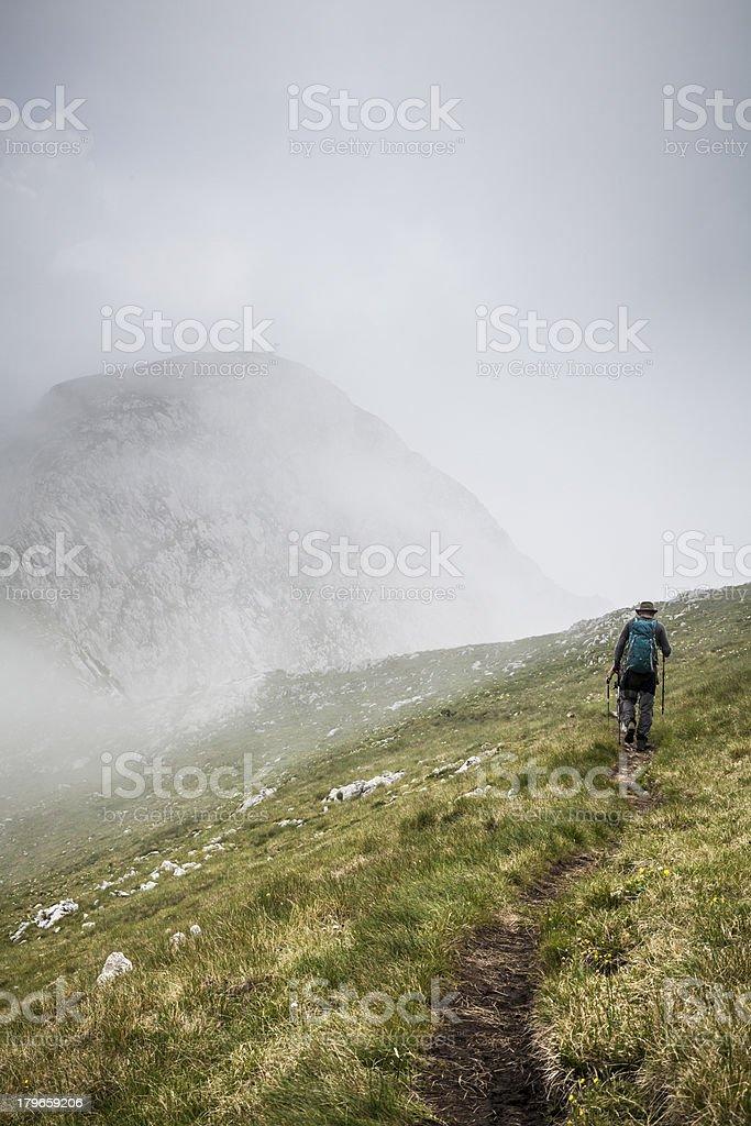 Into Mist on Maglic, Stujeska National Park, Bosnia and Herzegovina royalty-free stock photo