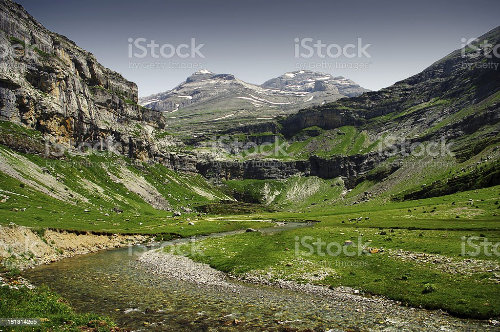 into Ordessa valley royalty-free stock photo