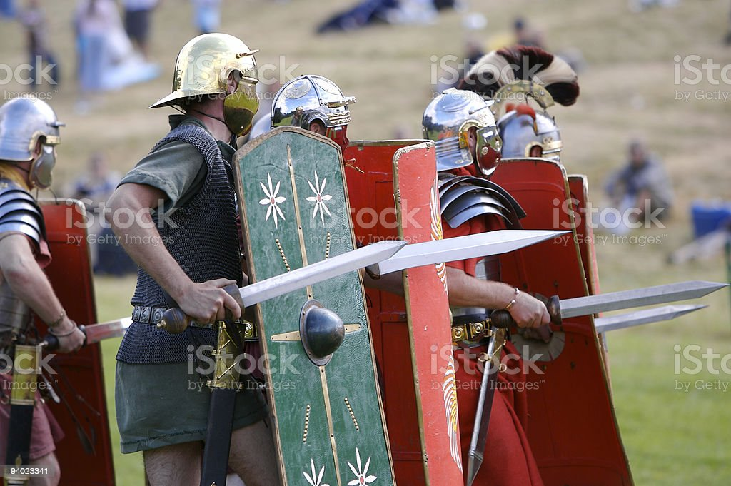 Into the Battle stock photo