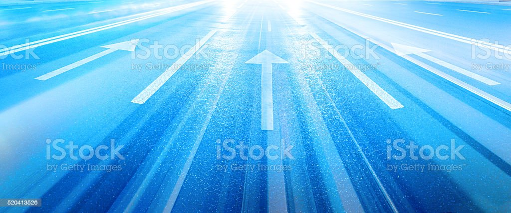 Into the bright future stock photo
