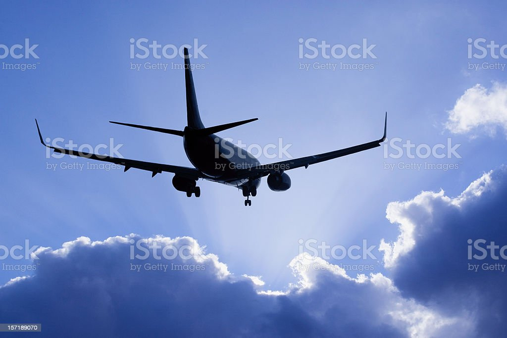 Into the Clouds (Airliner) stock photo