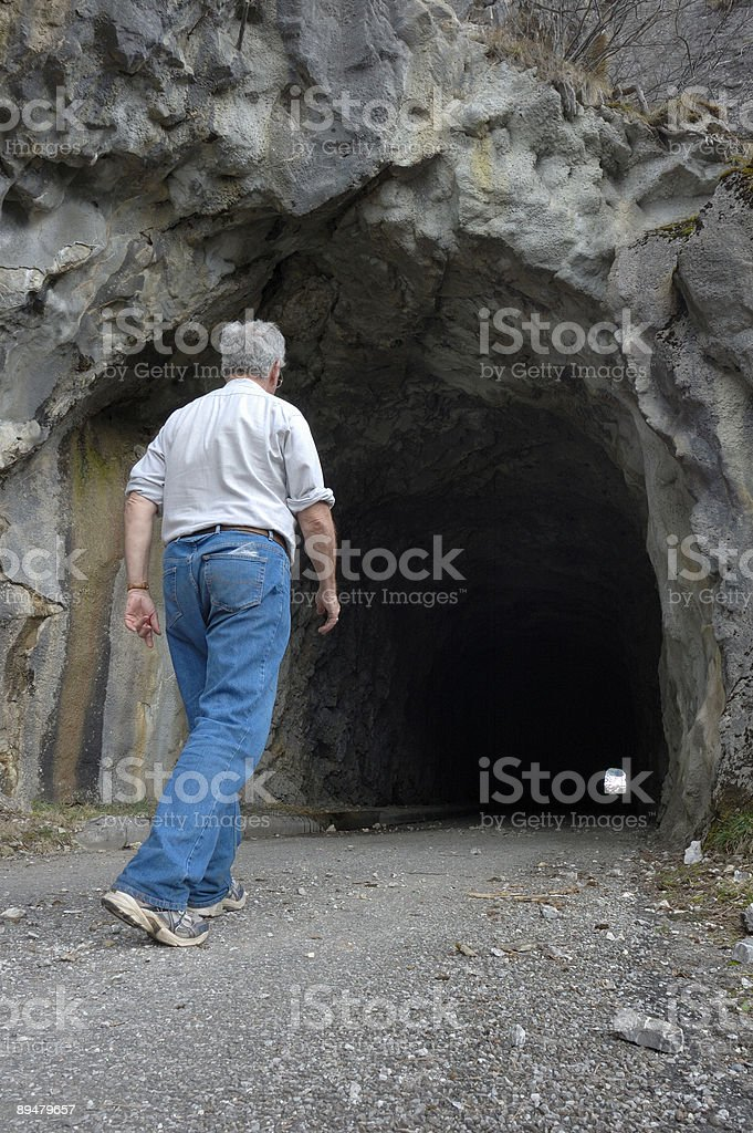 Into the darkness royalty-free stock photo