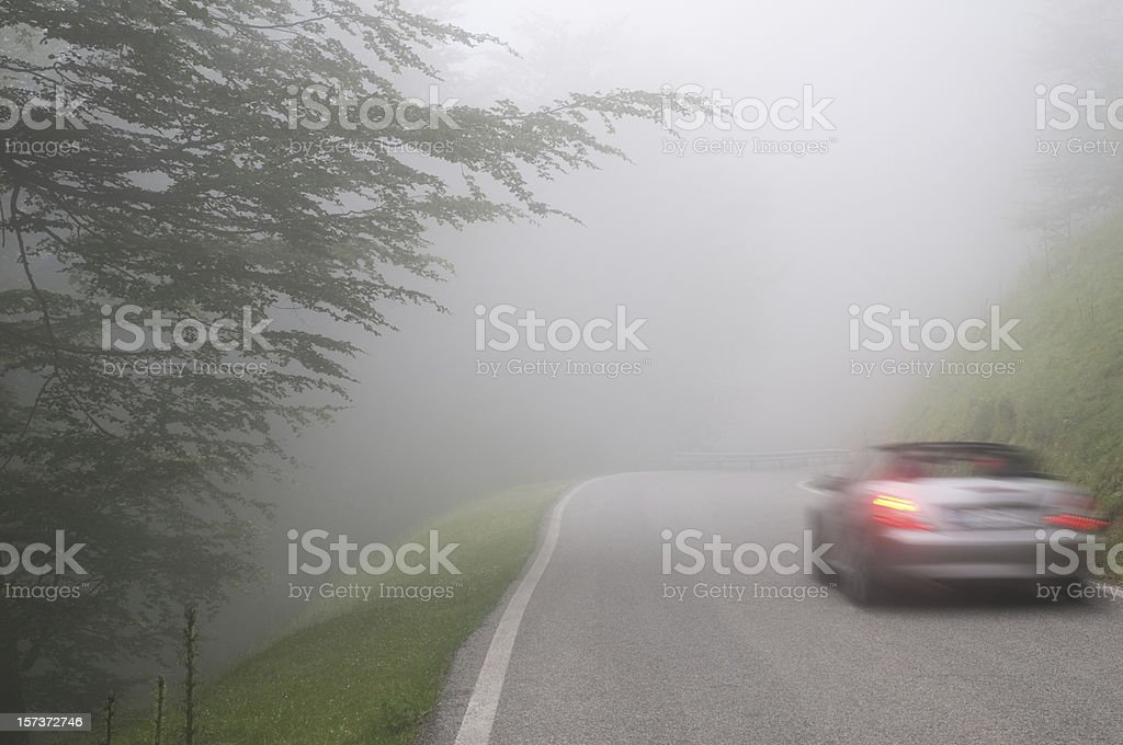 Into the fog stock photo