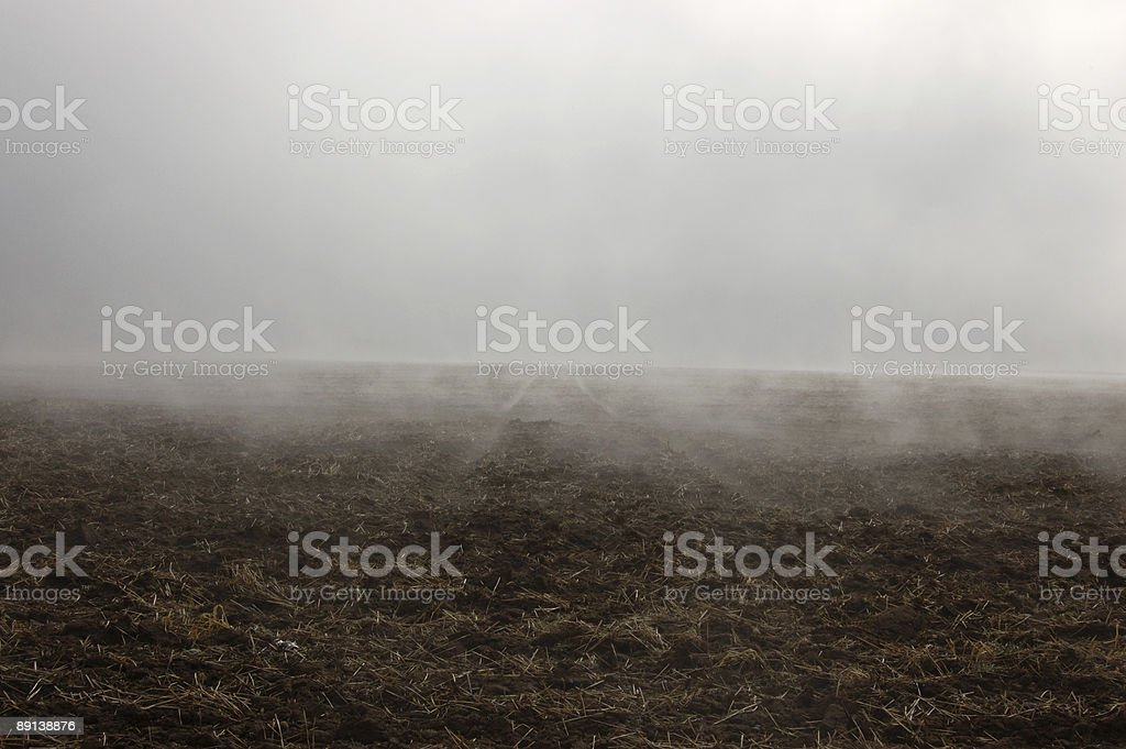 Into the Fog - road to nowhere royalty-free stock photo