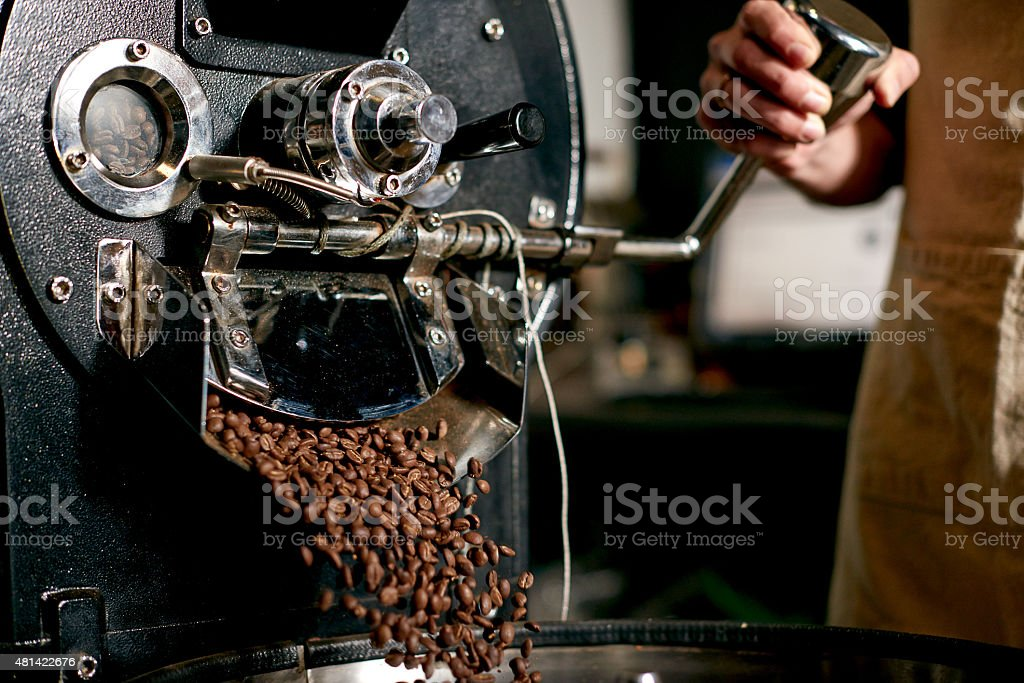 Into the grinder stock photo