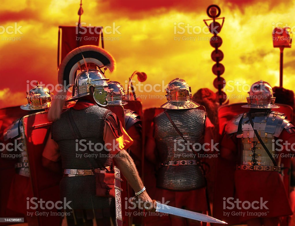 Into The Heat of Battle, from my Roman Army Series stock photo