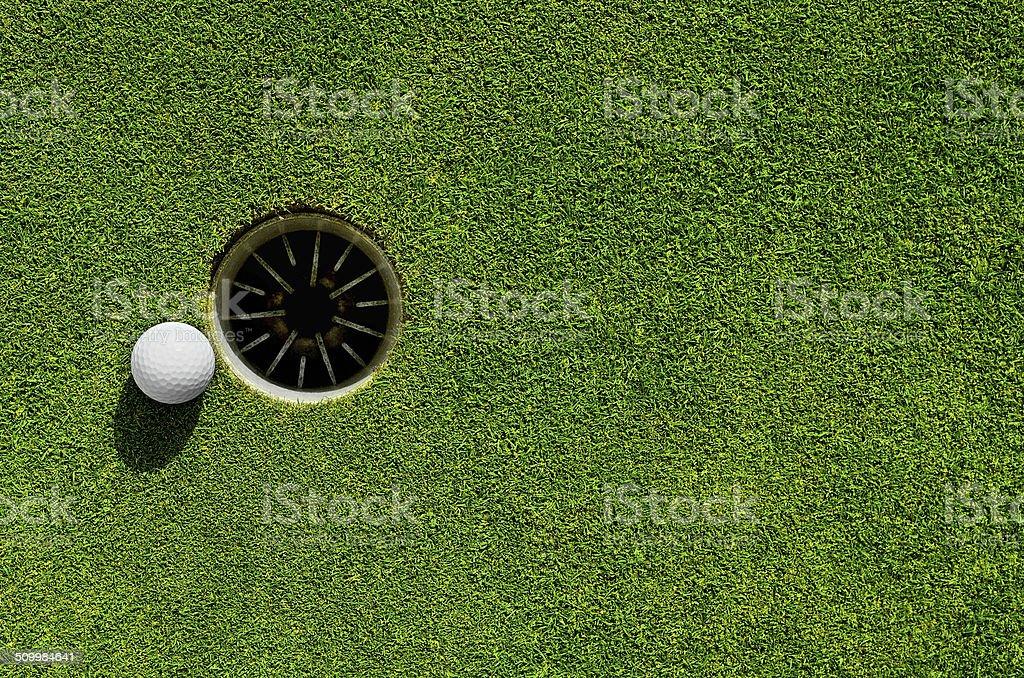 Into the hole stock photo