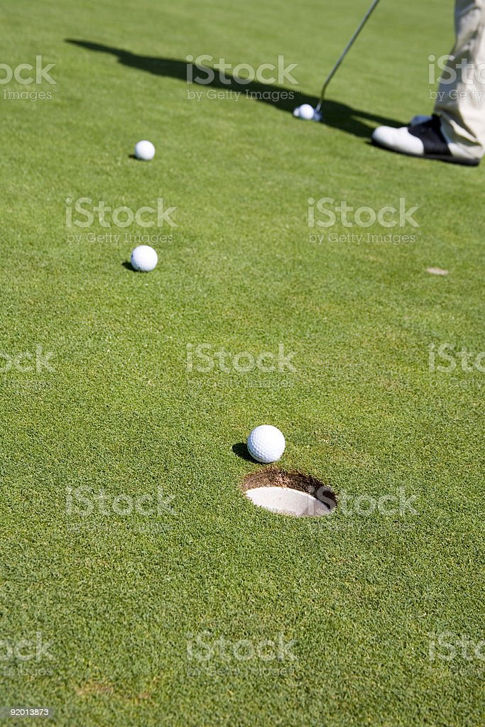 into the hole royalty-free stock photo