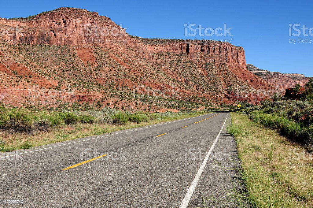 Into the Red Land stock photo