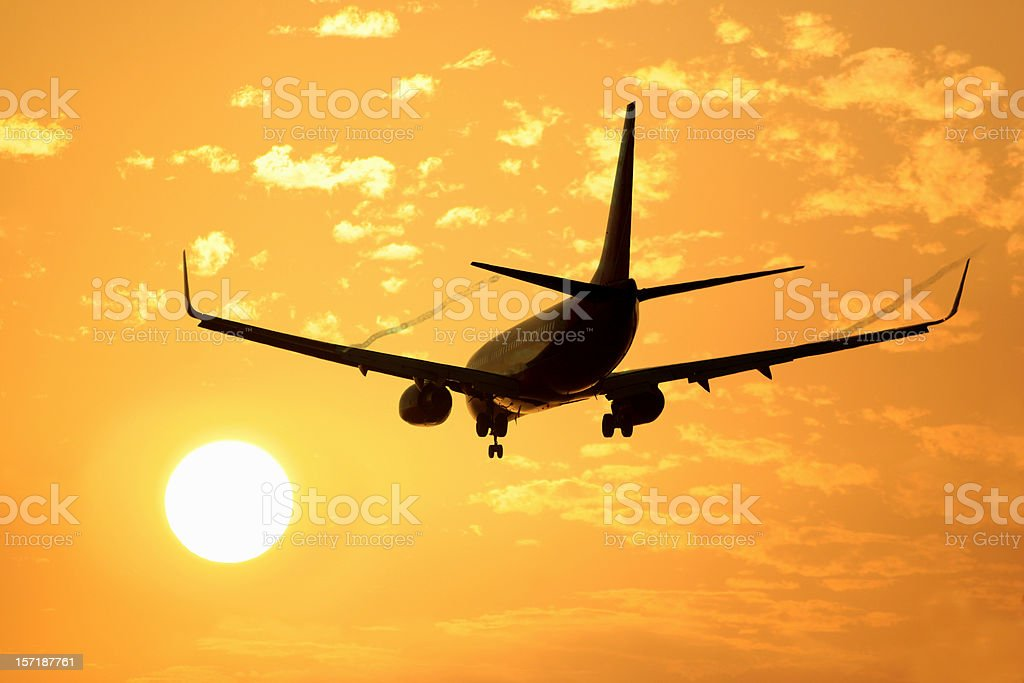 Into the Sun (Airliner) royalty-free stock photo