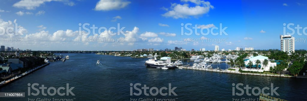 intracoastal ft lauderdale stock photo