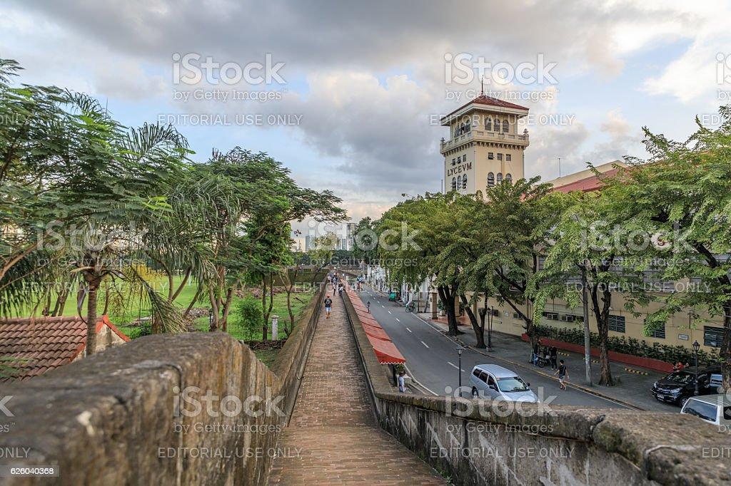 Intramuros area of Manila, Fort Augusta, Philippines stock photo