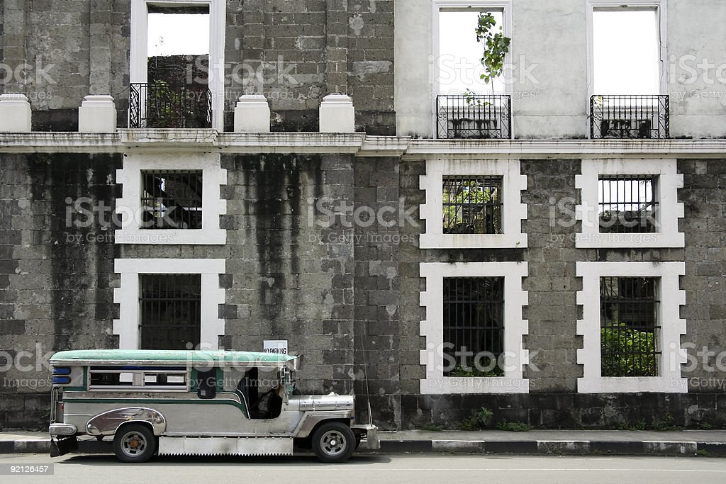 intramuros jeepney manila philippines royalty-free stock photo