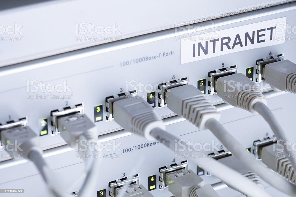 Intranet Hardware stock photo