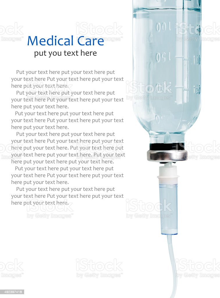Intravenous infusion drip stock photo