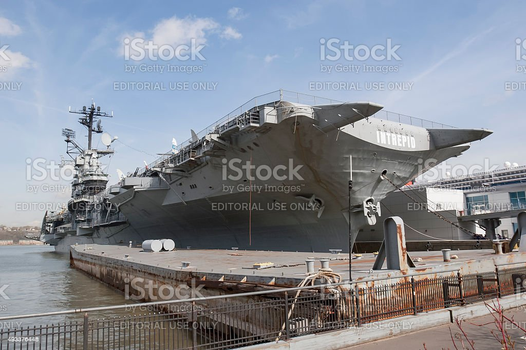 USS Intrepid in United States stock photo
