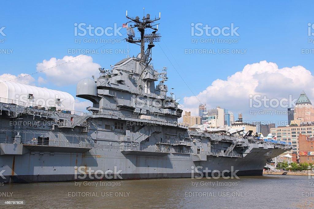 USS Intrepid, New York stock photo