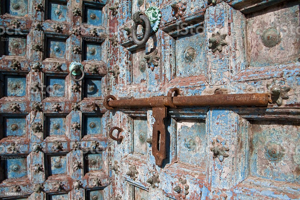 Intricate Carved Door royalty-free stock photo