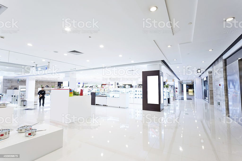intrior of shopping mall stock photo